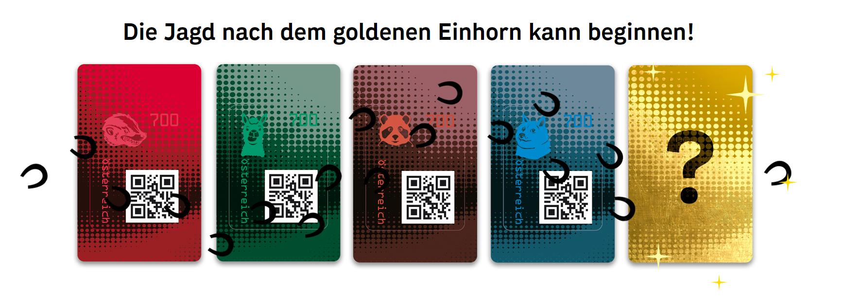 Crypto Stamp 2.0 - Goldenes Einhorn